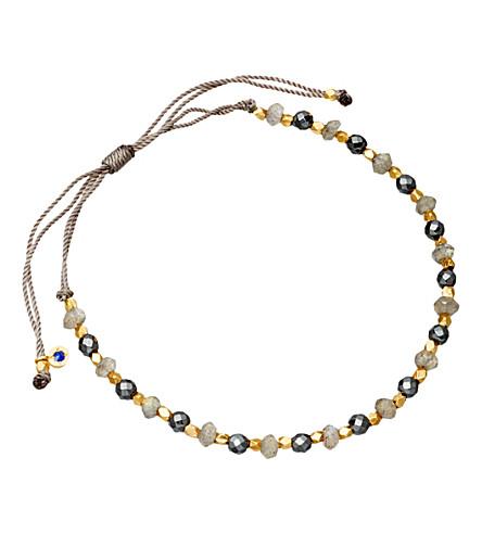 ASTLEY CLARKE 18ct gold vermeil grey cord bracelet (Grey