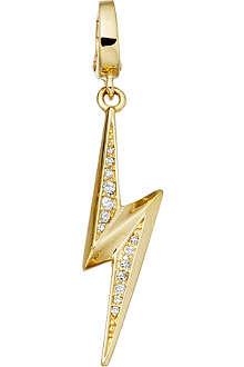 ASTLEY CLARKE Thunderbolt 18 carat gold vermeil charm