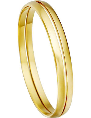 ASTLEY CLARKE Inverted stackable 18ct gold bangles