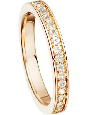 ASTLEY CLARKE 18ct rose gold and moonstone eternity ring