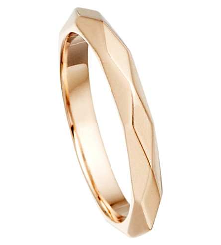 ASTLEY CLARKE Faceted 18ct rose-gold vermeil stacking ring (Pink