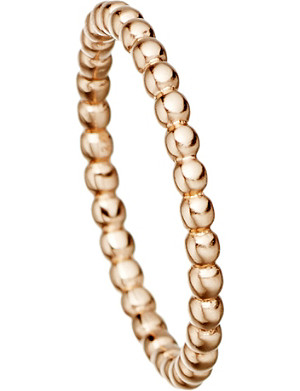 ASTLEY CLARKE 18 carat rose gold beaded stacking ring