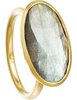 ASTLEY CLARKE Labradorite 18ct gold cocktail ring