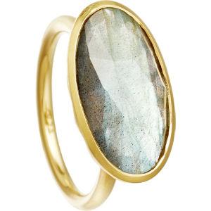 Labradorite 18ct gold vermeil cocktail ring