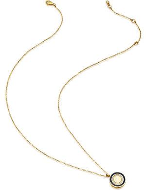 ASTLEY CLARKE Cosmos 14ct yellow-gold, diamond and enamel locket
