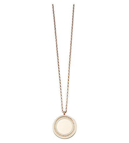 ASTLEY CLARKE Giant Cosmos 18ct rose-gold and diamond moonlight locket (Pink