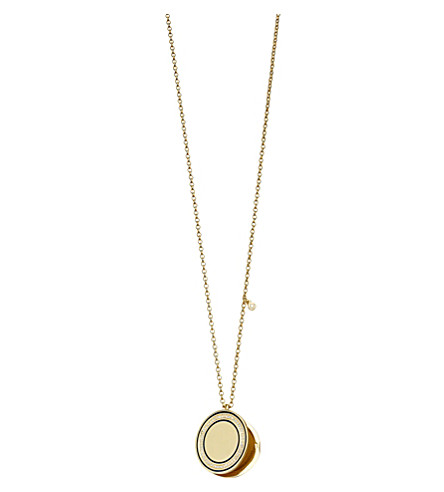 ASTLEY CLARKE Cosmos 14ct yellow-gold, diamond and enamel locket (Gold