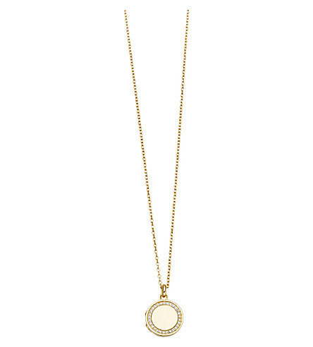 ASTLEY CLARKE Cosmos 14ct yellow-gold and diamond locket (Gold