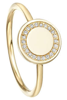 ASTLEY CLARKE Cosmos 14ct yellow-gold and diamond stacking ring