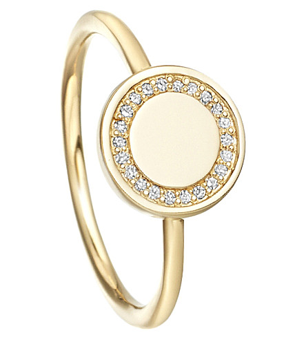 ASTLEY CLARKE Cosmos 14ct yellow-gold and diamond stacking ring (Gold