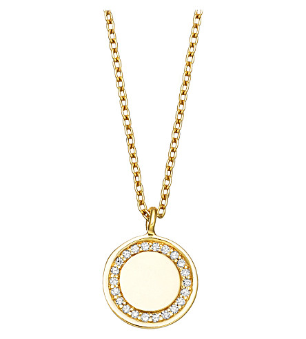 ASTLEY CLARKE Cosmos 14ct yellow-gold and diamond pendant necklace (Gold