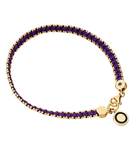 ASTLEY CLARKE Violet Berry Cosmos friendship bracelet (Purple