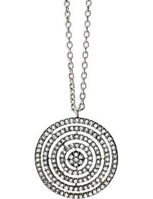 ASTLEY CLARKE 14-carat white-gold and diamond Concentric Circle pendant