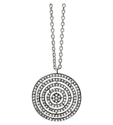 ASTLEY CLARKE 14-carat white-gold and diamond Concentric Circle pendant (White+gold