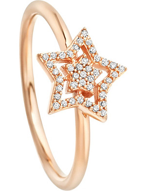ASTLEY CLARKE Super Star 14ct rose-gold and diamond ring