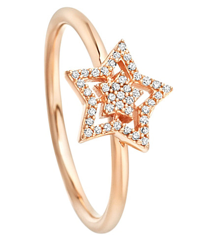 ASTLEY CLARKE Super Star 14ct rose-gold and diamond ring (Rose+gold