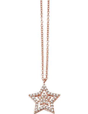 ASTLEY CLARKE Super Star 14ct rose-gold and diamond pendant
