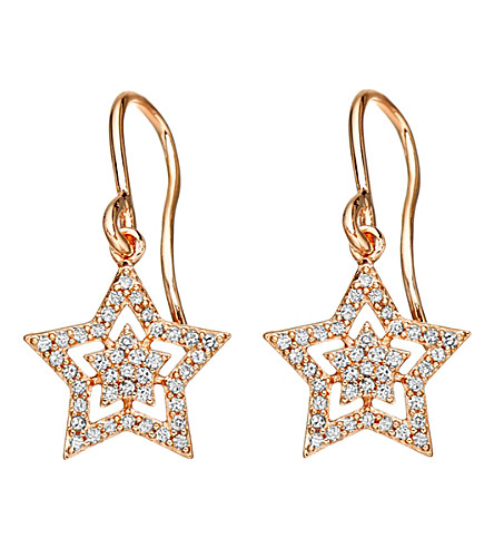 ASTLEY CLARKE Super Star drop 14ct rose-gold and diamond drop earrings (Rose gold