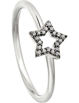 ASTLEY CLARKE Open Star 14ct white-gold and diamond ring