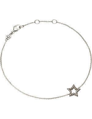 ASTLEY CLARKE Open Star 14ct white-gold and diamond bracelet