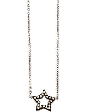 ASTLEY CLARKE Open Star 14ct white-gold and diamond pendant