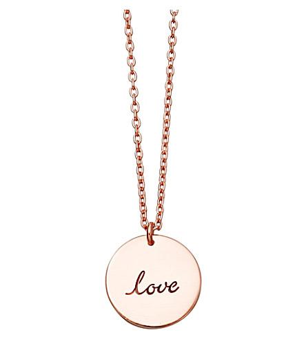 ASTLEY CLARKE Love 14ct rose-gold pendant (Rose gold