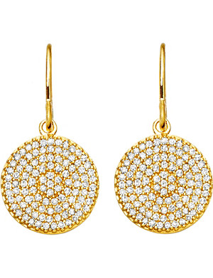 ASTLEY CLARKE Yellow Gold Icon 14ct gold earrings