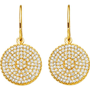 Yellow gold icon 14ct gold earrings