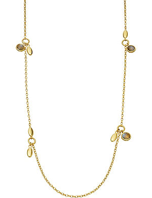 ASTLEY CLARKE Multiple seed 18ct gold vermeil long necklace