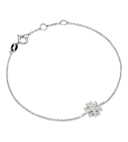 ASTLEY CLARKE Starburst 18-carat white gold and diamond bracelet (Silver