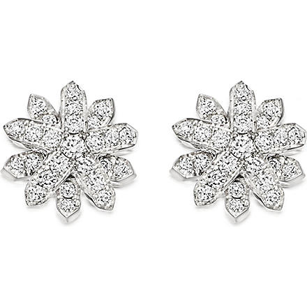 ASTLEY CLARKE Starburst 18ct white gold and diamond studs (Silver