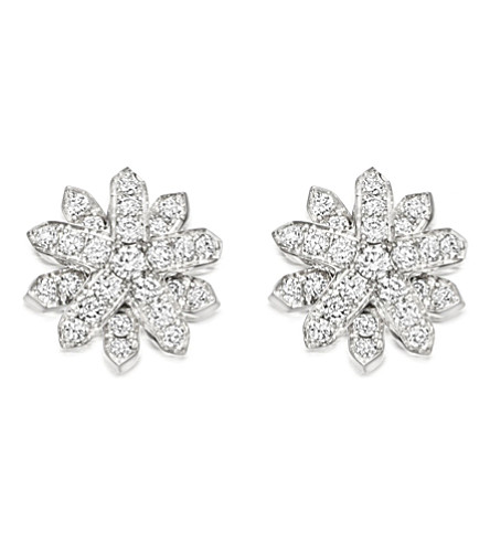 ASTLEY CLARKE Starburst 18-carat white gold and diamond stud earrings (Silver