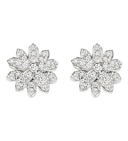 ASTLEY CLARKE Starburst 18-carat white gold and diamond stud earrings (Silver