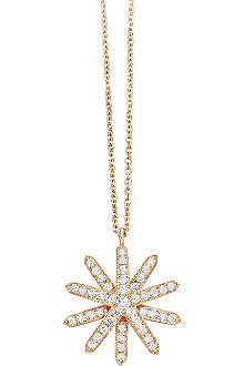 ASTLEY CLARKE Large Starburst 18ct rose-gold and diamond pendant necklace