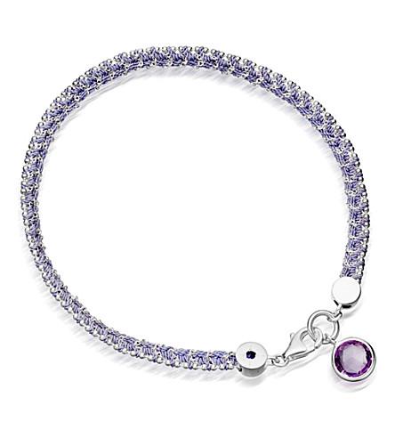 ASTLEY CLARKE Modern love 18ct gold plated bracelet with amethyst (Silver,+purple