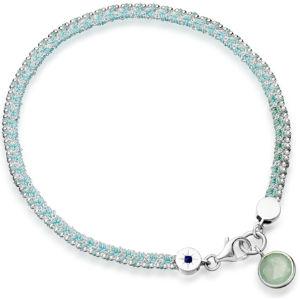 Silver fascination with aventurine bracelet
