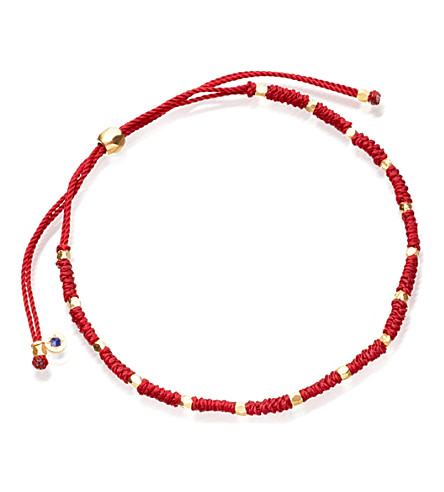 ASTLEY CLARKE Protection skinny gold plated vermeil bracelet (Red