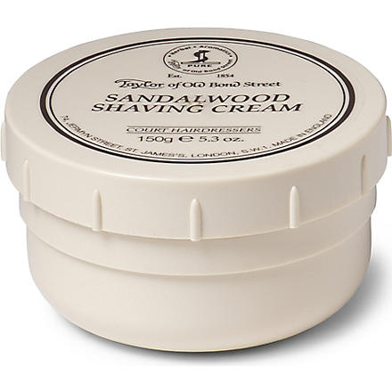 TAYLOR OF OLD BOND STREET Sandalwood shaving cream bowl 150g