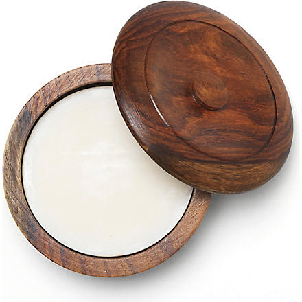 TAYLOR OF OLD BOND STREET Sandalwood shaving soap with wooden bowl (Sandalwood+fragranced+shaving+soap