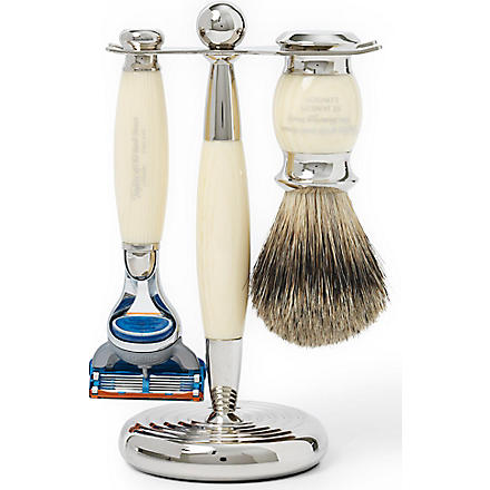 TAYLOR OF OLD BOND STREET Edwardian shaving set with Fusion razor (Imitation+ivory