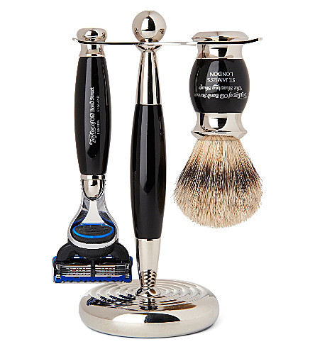 TAYLOR OF OLD BOND STREET Edwardian shaving set with Fusion razor