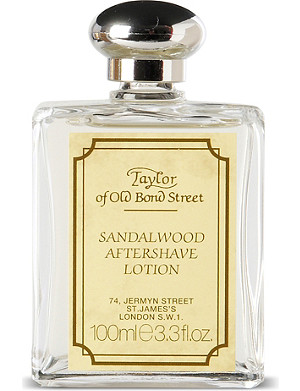 TAYLOR OF OLD BOND STREET Sandalwood aftershave lotion 100ml