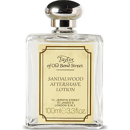 TAYLOR OF OLD BOND STREET Sandalwood aftershave lotion 100ml (Tan