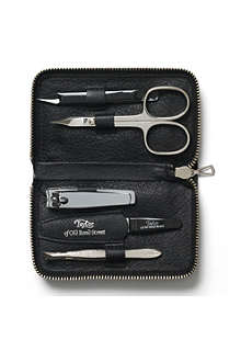 TAYLOR OF OLD BOND STREET Manicure set in leather case
