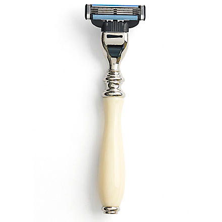 TAYLOR OF OLD BOND STREET Mach3 Victorian style razor (Imitation+ivory