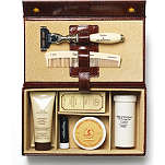 TAYLOR OF OLD BOND STREET Grooming box in brown mock-croc leather