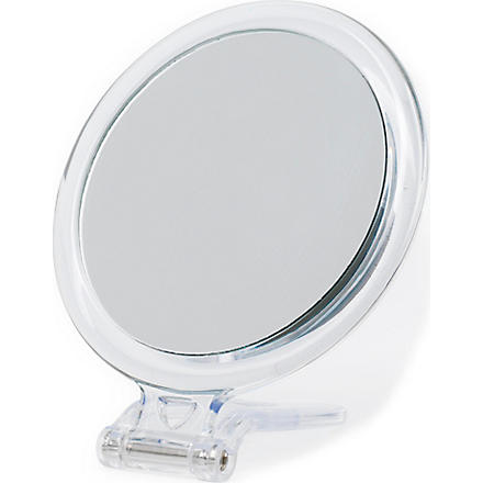 TAYLOR OF OLD BOND STREET Round perspex mirror