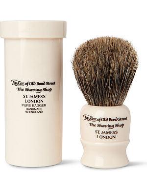 TAYLOR OF OLD BOND STREET Pure Badger travel shaving brush