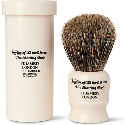TAYLOR OF OLD BOND STREET Pure Badger travel shaving brush