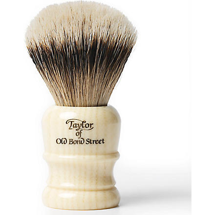 TAYLOR OF OLD BOND STREET Super Badger shaving brush medium (Imitation+ivory